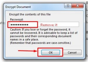 Lock MS Office Word - Remove the password From MS word document