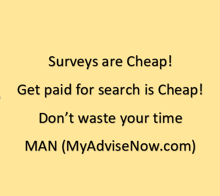 Do I earn lifesaving earning with filling the surveys?