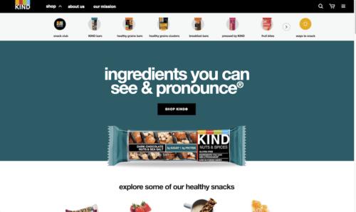 website design ideas for beginners KINDSnacks